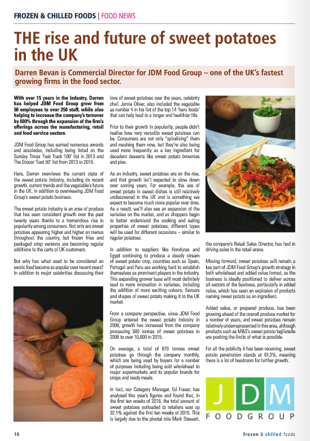 39 the rise future of sweet potatoes in the uk 39 frozen for Articles cuisine